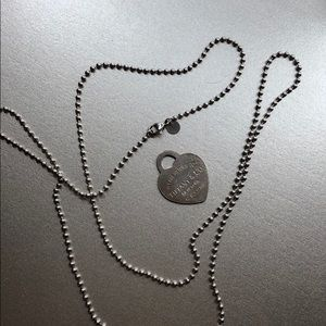 Tiffany & Co necklace with heart tag